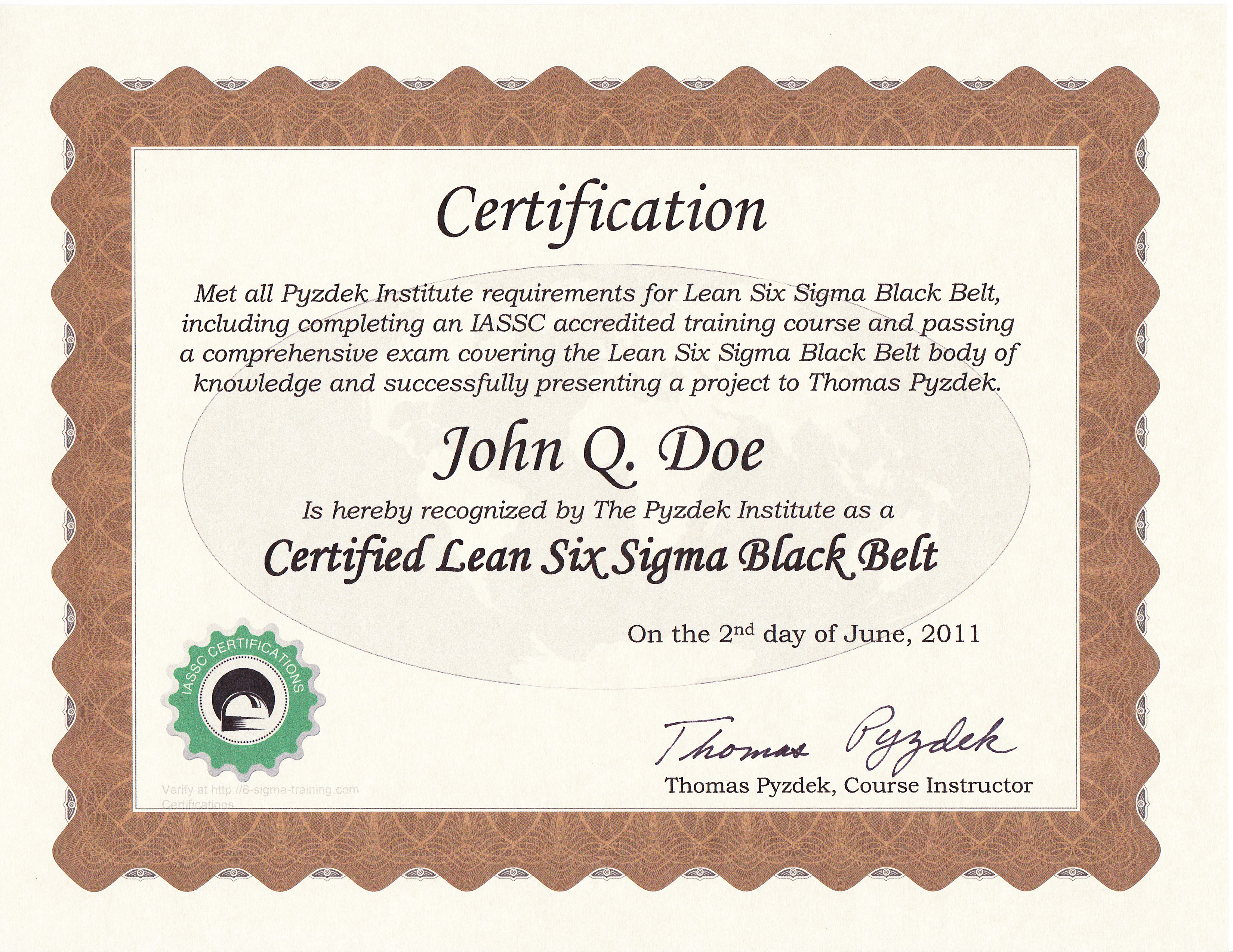 Lean Six Sigma Green Belt Certification Asq