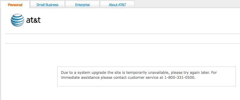 AT&T System Upgrade