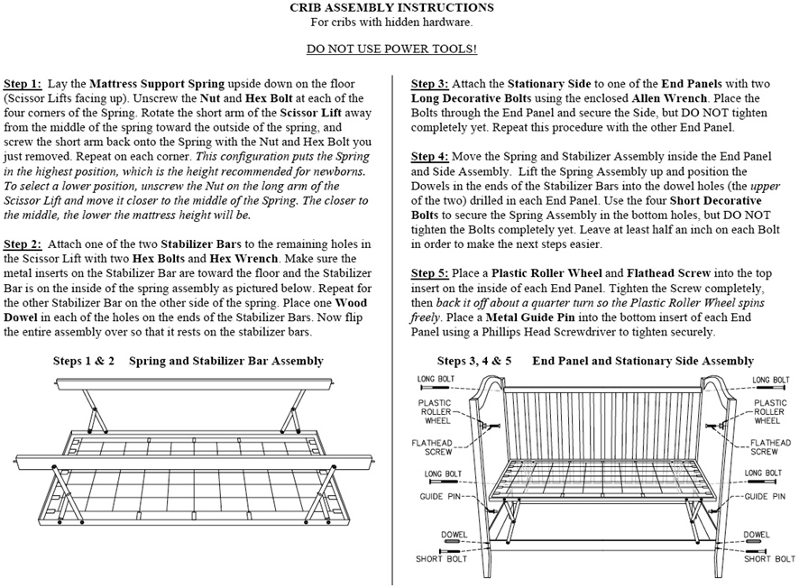 Figure 4-Crib Assembly Instructions