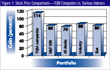 TQM Companies vs Various indexes