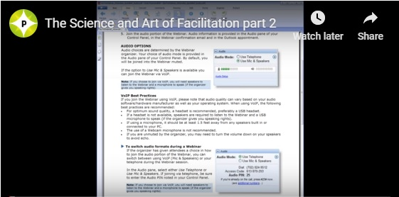 science and art of facilitation webinar part 2