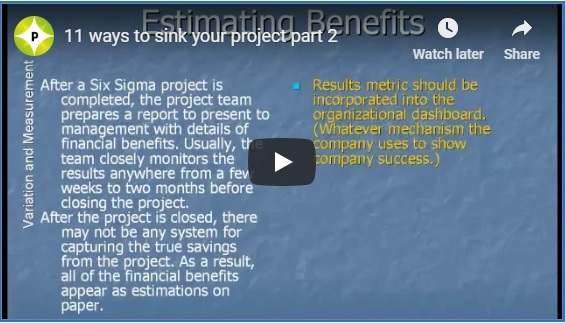 How to sink your six sigma project part 2